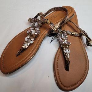 Madeline Stuart Jeweled Sandals Sz 8